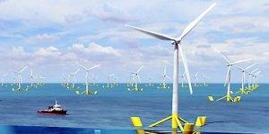 photo éoliennes en mer source Midi Libre