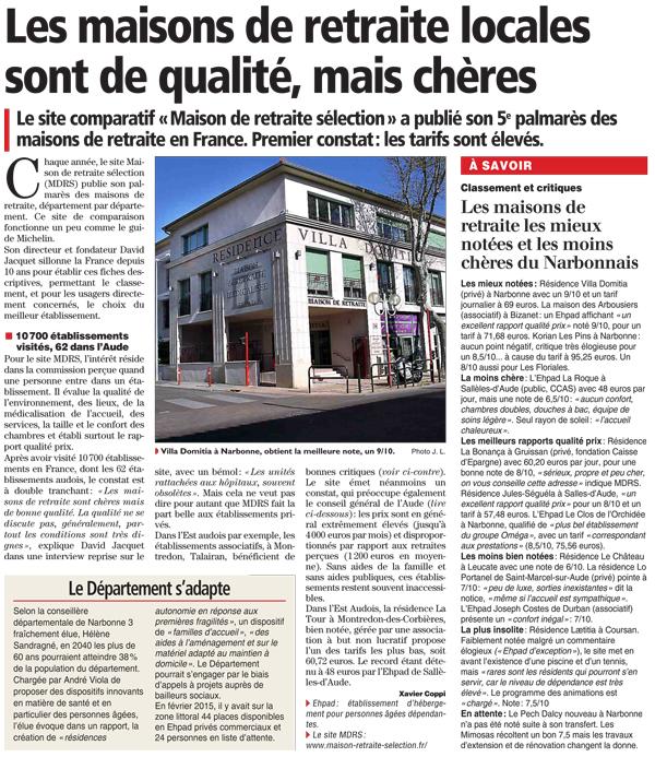 Article Indépendant Narbonne du 14 avril 2015