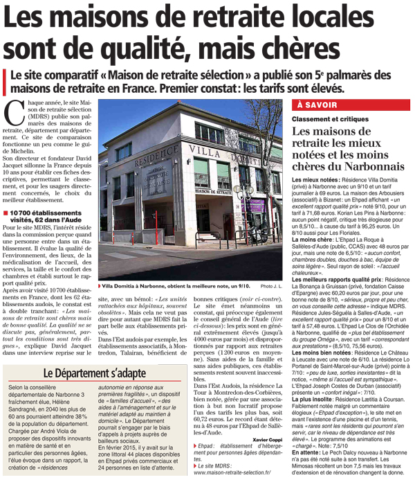 Article Indépendant Narbonne du 14 avril 2015