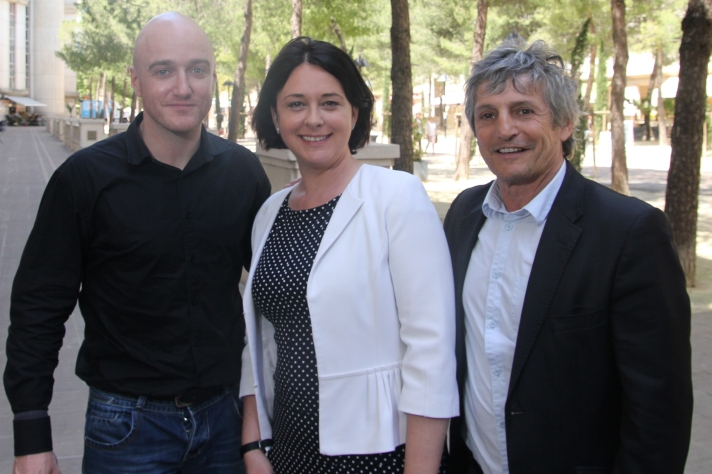 Sur la photo : Jordi Bourquin, Sylvia Pinel, Didier Codorniou