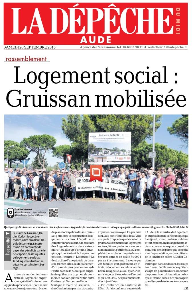 La Dépêche Aude 26092015