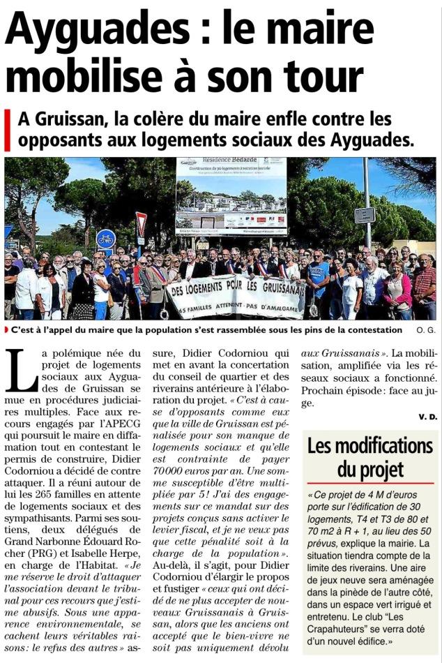 L'Independant - Midi Libre 26/09/2015