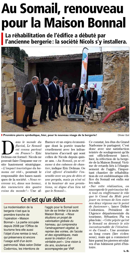Article Indépendant /Midi Libre 21 octobre