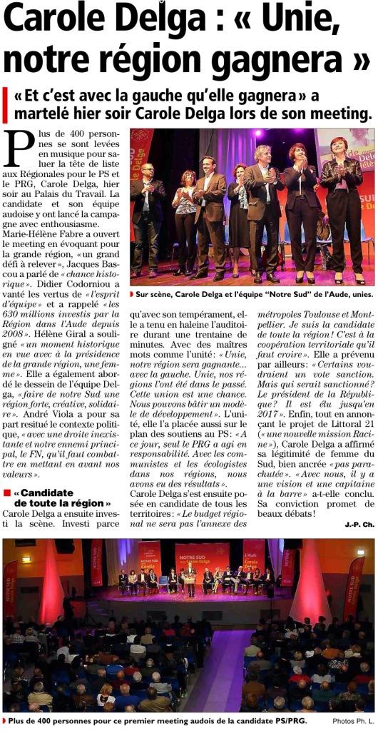 Article l'Indépendant -Midi libre du 27/10/2015